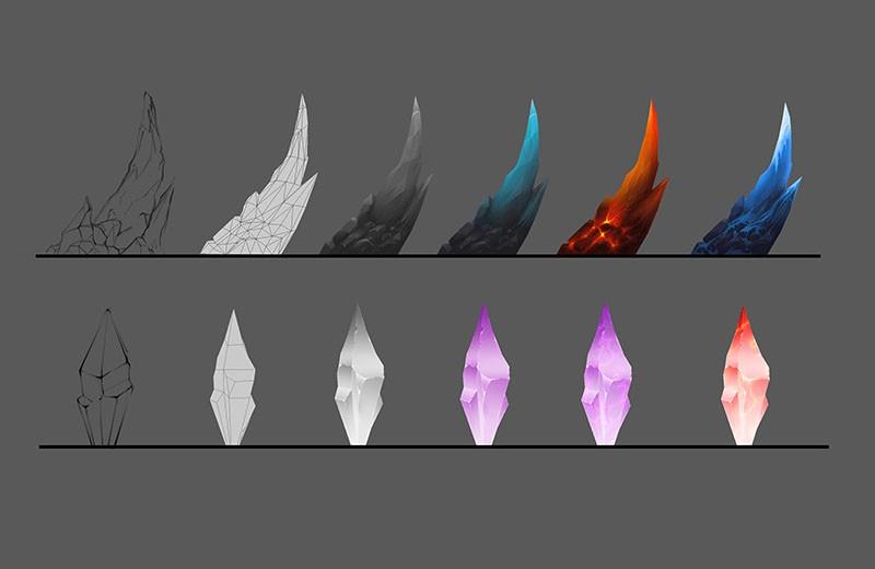 特效模型(地刺 水晶)