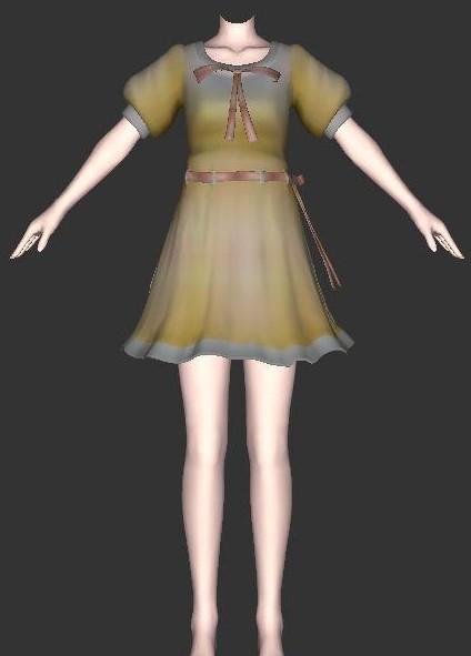 箱娘下载_可爱连衣裙15,箱娘服装 - CG模型下载 - CGJOY
