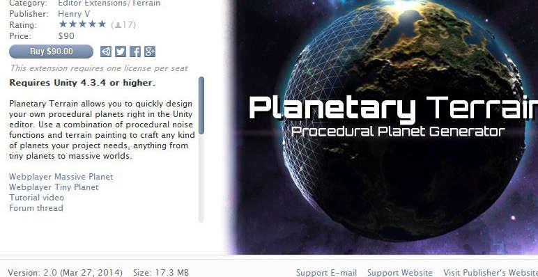 Unity Planetary Terrain