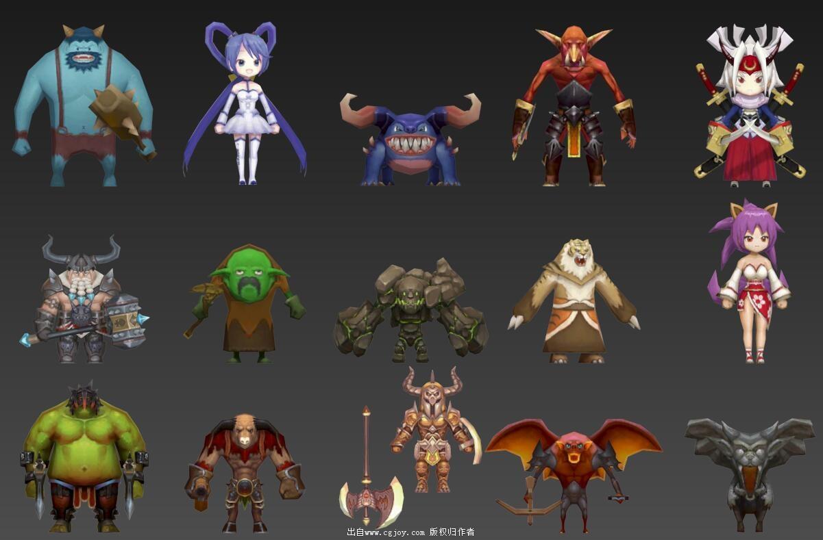 某手游角色模型大集合,附带一部分武器和场景小道具_02.jpg