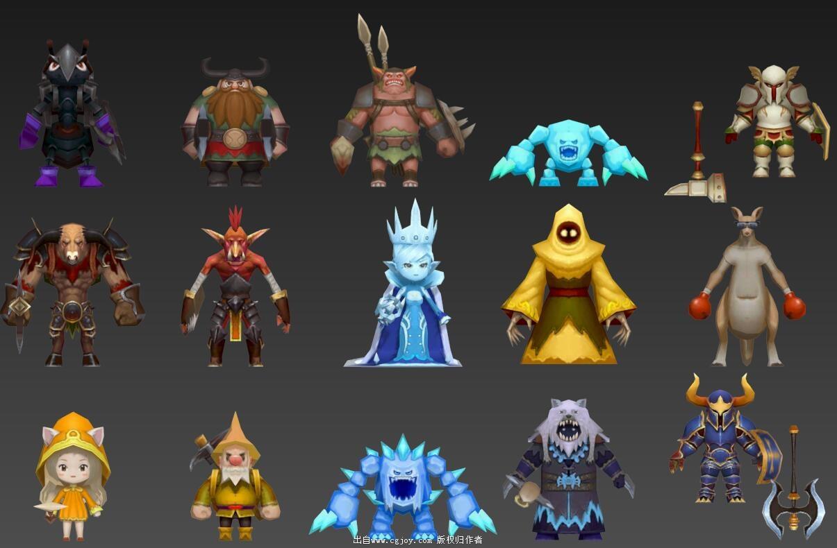 某手游角色模型大集合,附带一部分武器和场景小道具_04.jpg
