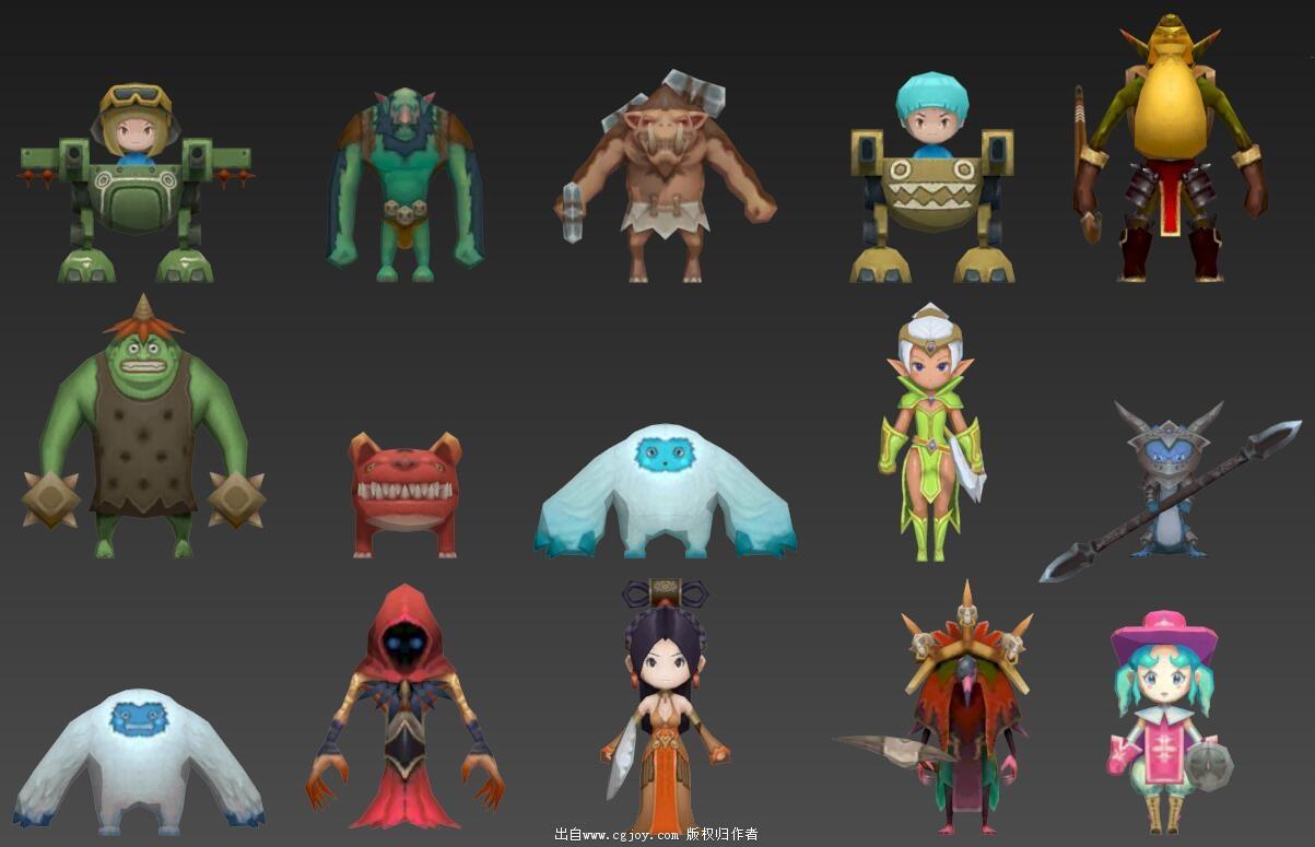 某手游角色模型大集合,附带一部分武器和场景小道具_07.jpg