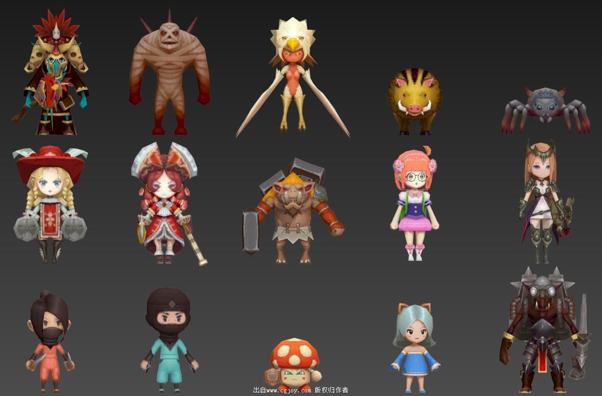 某手游角色模型大集合,附带一部分武器和场景小道具_06.jpg