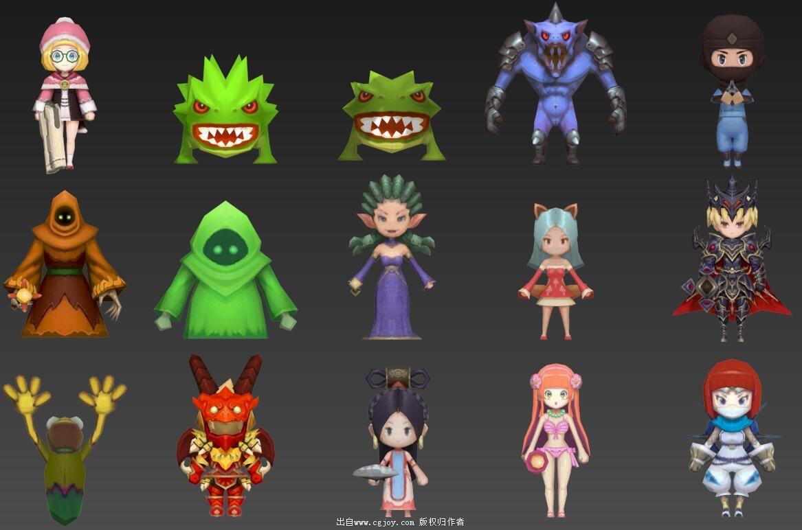 某手游角色模型大集合,附带一部分武器和场景小道具_09.jpg