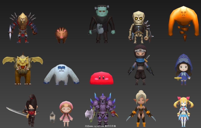 某手游角色模型大集合,附带一部分武器和场景小道具_08.jpg