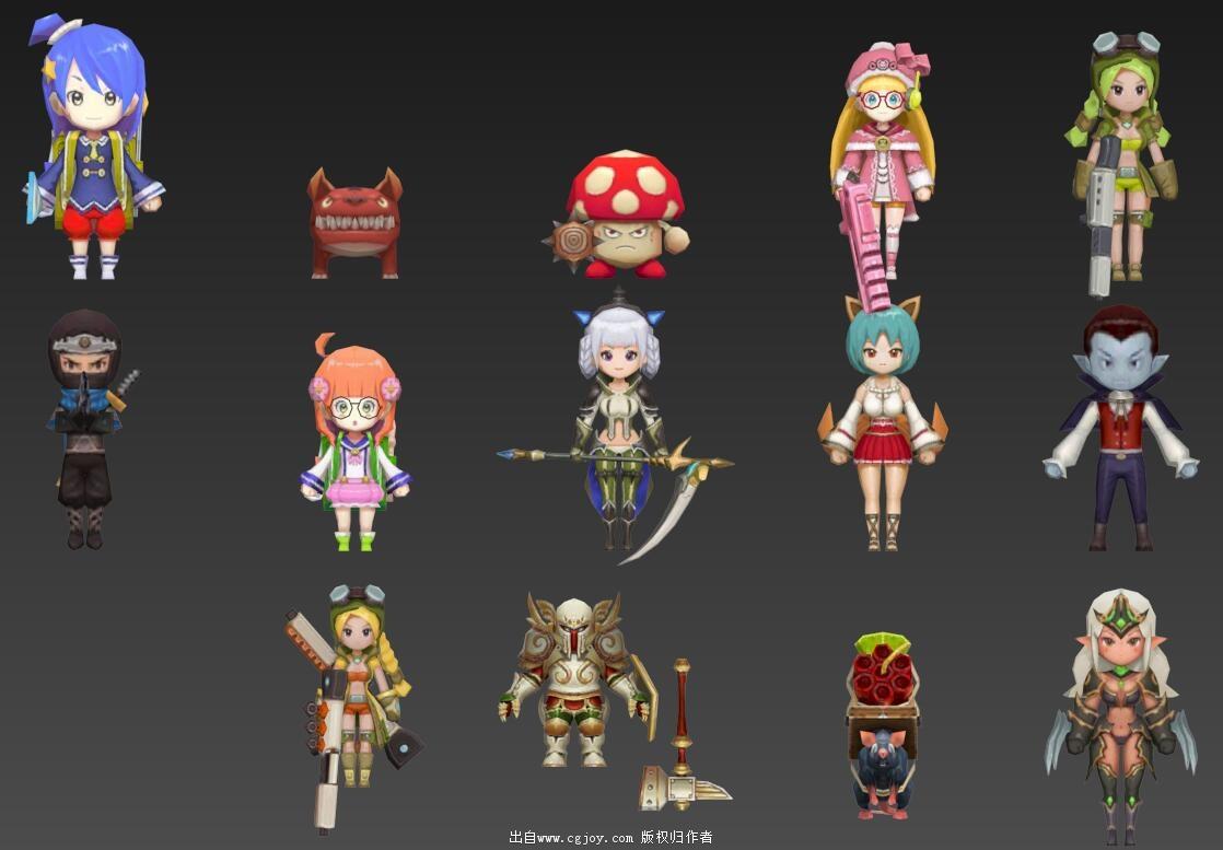 某手游角色模型大集合,附带一部分武器和场景小道具_10.jpg