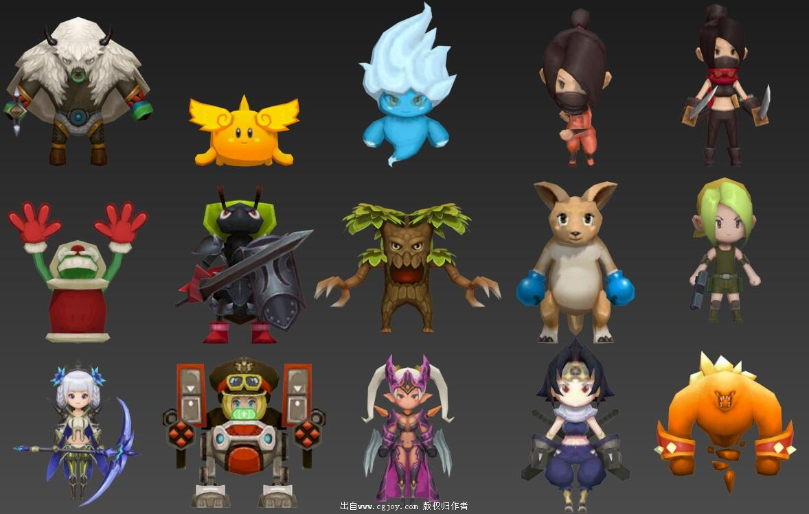 某手游角色模型大集合,附带一部分武器和场景小道具_11.jpg