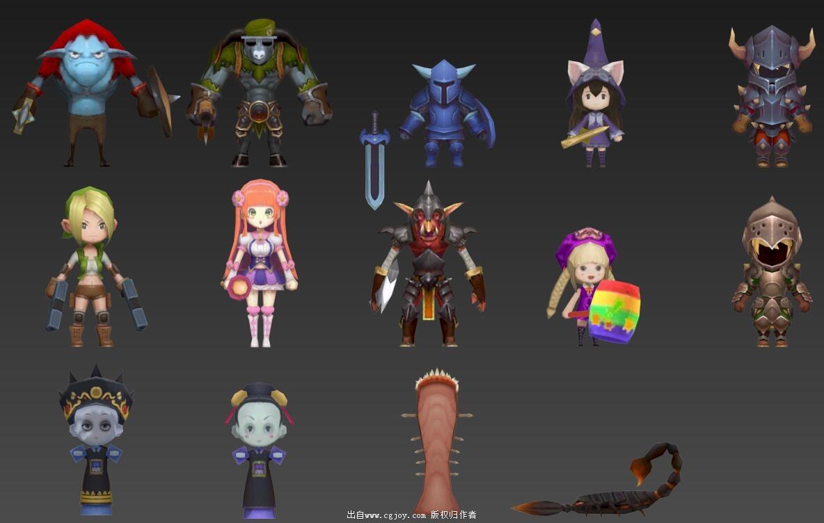 某手游角色模型大集合,附带一部分武器和场景小道具_12.jpg