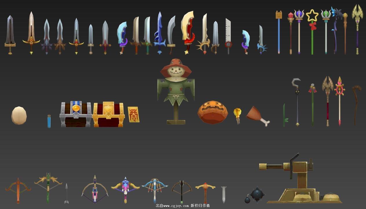 某手游角色模型大集合,附带一部分武器和场景小道具_13.jpg