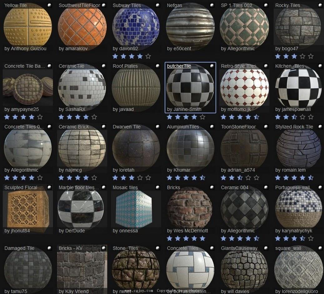 substance painter 材质资源包-游戏原画交流