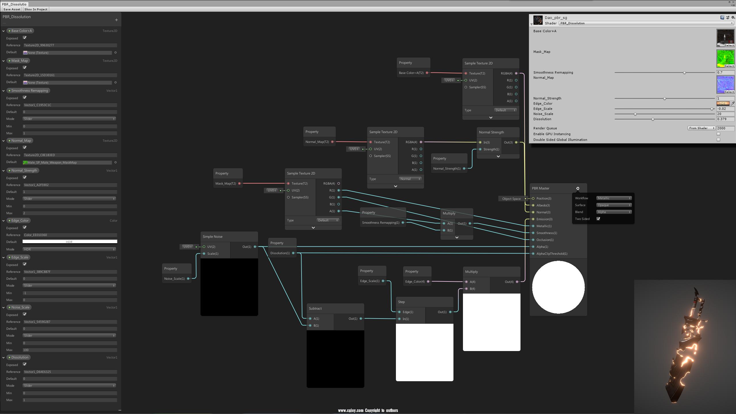 模型溶解连接图_ShaderGraph.png