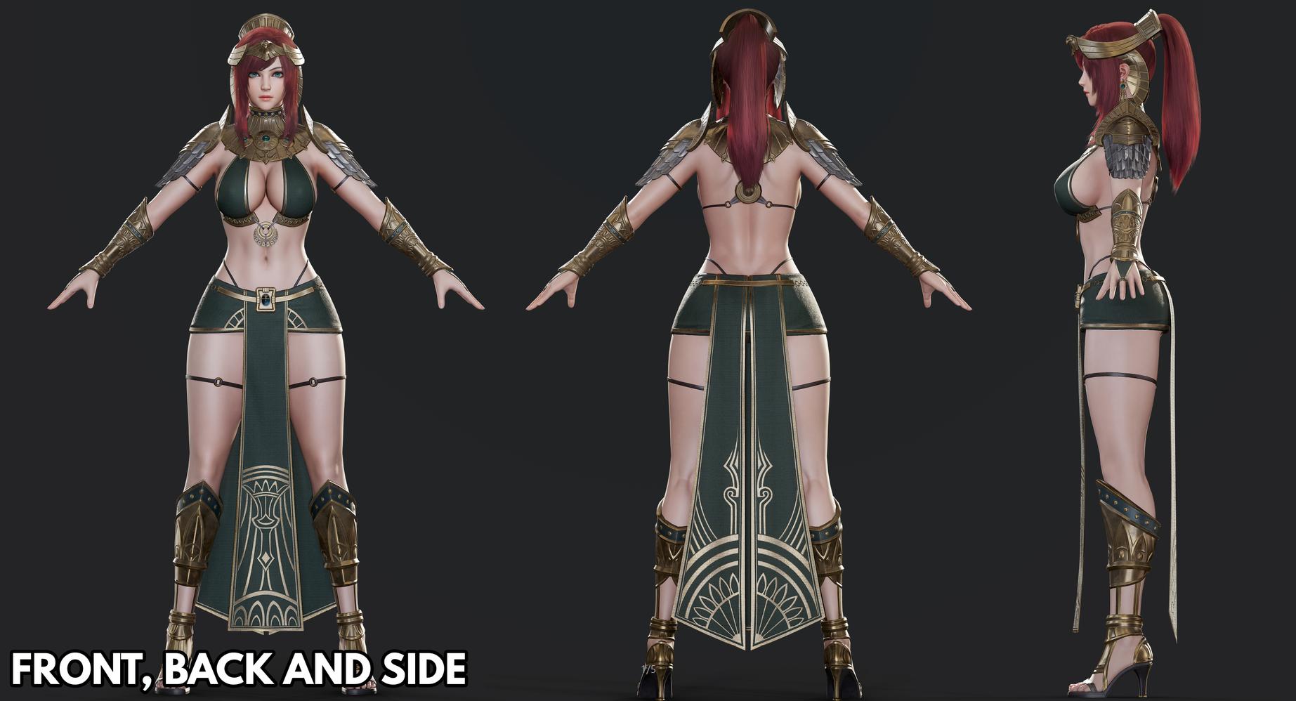 精致女战士模型免费分享 3dmax 游戏动画 3damx动画 模型 第3张