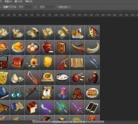3套超高清游戏道具技能图标PSD文件分层!