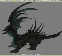 剑灵风毒龙的全套动作模型