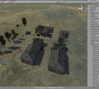 unity3d 游戏场景模型 丧尸 废弃区 Postapocalyptic ZOMBIE Town