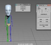 动画镜像脚本v2.4最新版,CS骨骼一键缩放和解除~