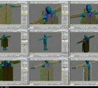 3ds Max Cloth Tutorial 13(c) 分层布料范例(全十四集)