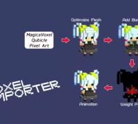 Voxel Importer v1.1.11 Magicavoxel模型導入插件