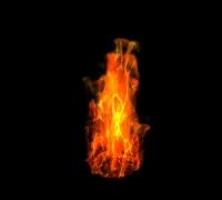 实验,如何用max给火焰里添加纹理