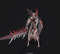 嗜血代碼 Queen's Knight 角色模型 帶T-pose 全貼圖