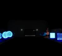 虚幻4 UE4 赛博朋克虚拟投像效果特效资源包 Cyberpunk FX Pack
