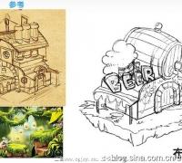 游戏UI手绘各种草图