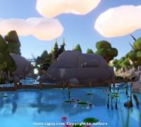 unity3d低模高品質場景資源:Low Poly Series Landscape