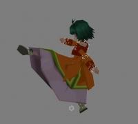 可爱的女格斗家,动作模型分享。
