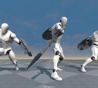 UE4剑士动画资源