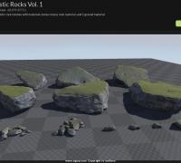 UE4石头资源,Realistic Rocks Vol.1