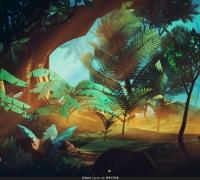 Q版雨林类型的 U3D场景