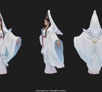南海观音,观世音菩萨,观音菩萨,仙女子,白衣女子,石像雕塑角色模型