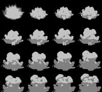 发张自己用视频转换的卡通烟雾素材