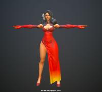 《尚武誌》旗袍娘模型贴图绘制过程