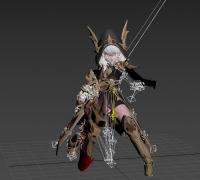 韩国网游《Project V4》枪炮职业全套时装-动画-Unity-MAX-FBX