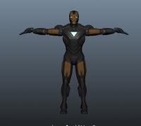 maya钢铁侠X3