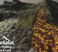 Unity3D水坑溪流熔岩湿润插件Puddles Streams Lava Wetness