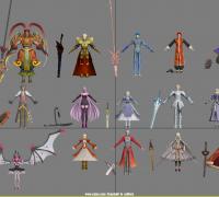 Fate EXTELLA 全部16个英灵模型