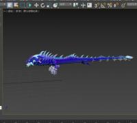 带骨骼绑定的水龙模型 max文件