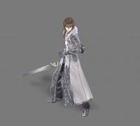 剑客模型带动画