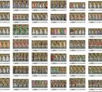 剑三重制版手动截图无损PNG大图,男女时装全三视图大全,门派装备展示