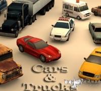Unity3d 卡车和汽车模型下载