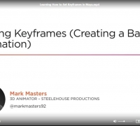 Learning How to Set Keyframes in Maya