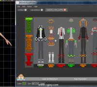 Maya绑定控制器选取面板 animschooll picker