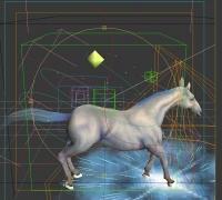 一匹白马有绑定有特效有动作