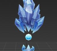 冰晶水晶冰球模型