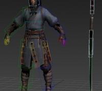 分享一个武士绑定模型  很好用