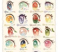 动漫二次元女孩眼睛的画法