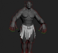 Fully lit, Rigged & Textured Troll 包含贴图