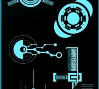 科幻風格UI參考 附贈一張材質圖